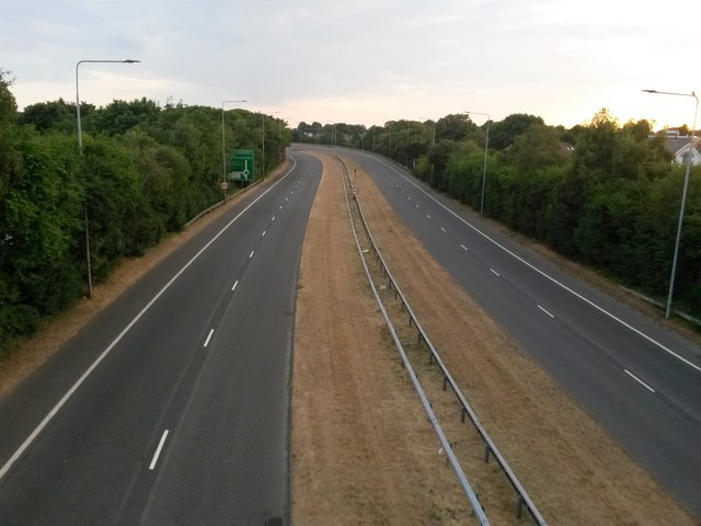 Springbourne: an empty inbound Wessex Way