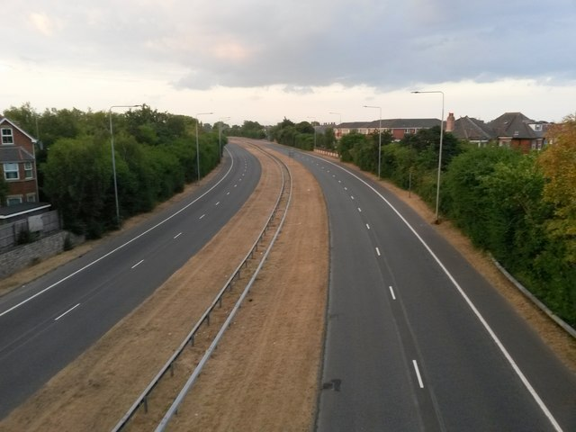 Springbourne: an empty outbound Wessex Way