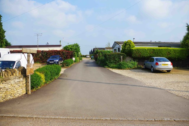Access road to St. Mary's Court, Bampton, Oxon
