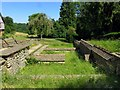 SP0513 : The ruins of the walls of Chedworth Roman Villa by Steve Daniels