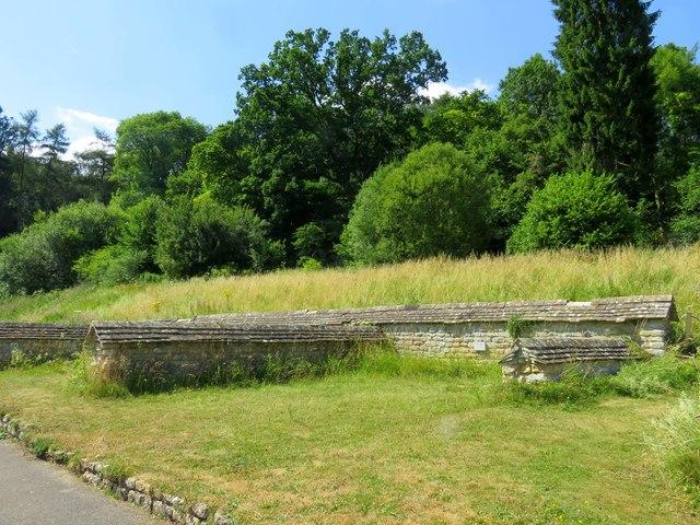 The North Wing at Chedworth Roman Villa