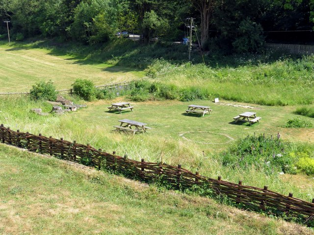 The picnic area at Chedworth Roman Villa