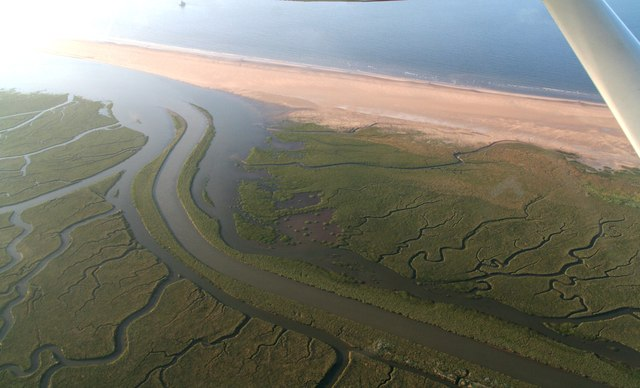 Tetney Haven (outflow of Louth Navigation): aerial 2018