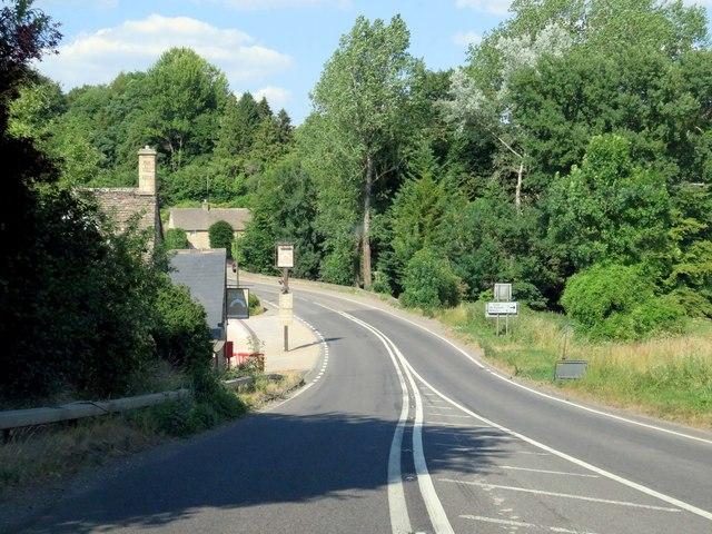 The Fosse Way passing Fossebridge