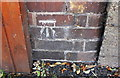 SP3381 : Benchmark on wall on west side of Lockhurst Lane by Roger Templeman