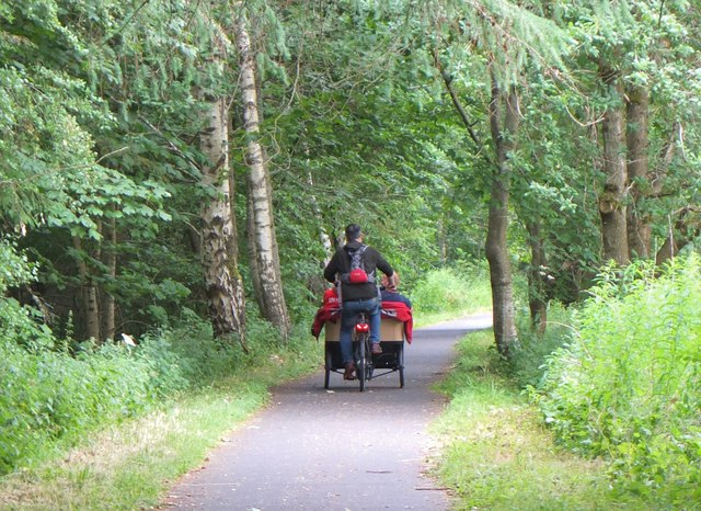 Cycle rickshaw, Cardrona railway path