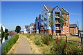 SP3380 : Apartments beside the Coventry Canal at The Moorings by Roger Templeman