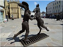 SP0202 : Sculpture in the Market Place, Cirencester by Philip Halling