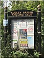 SJ7948 : Audley Parish Angling Club noticeboard by Jonathan Hutchins
