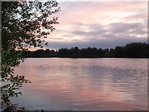 SK5031 : Gravel Pit at dawn by David Lally