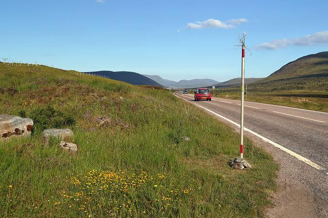 The A835 near Loch Glascarnoch