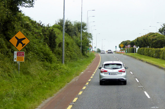 Southbound N27 near Cork Airport