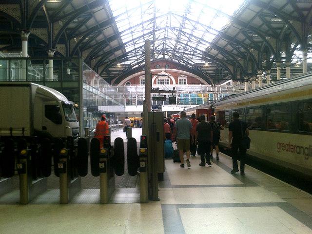 Inside Liverpool Street Railway Station