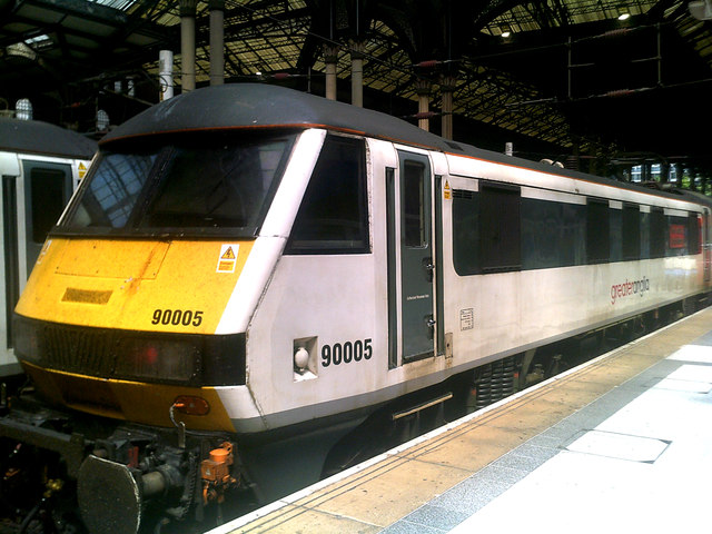 Greater Anglia Train at Liverpool Street Railway Station