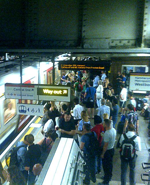 Liverpool Street Underground Railway Station