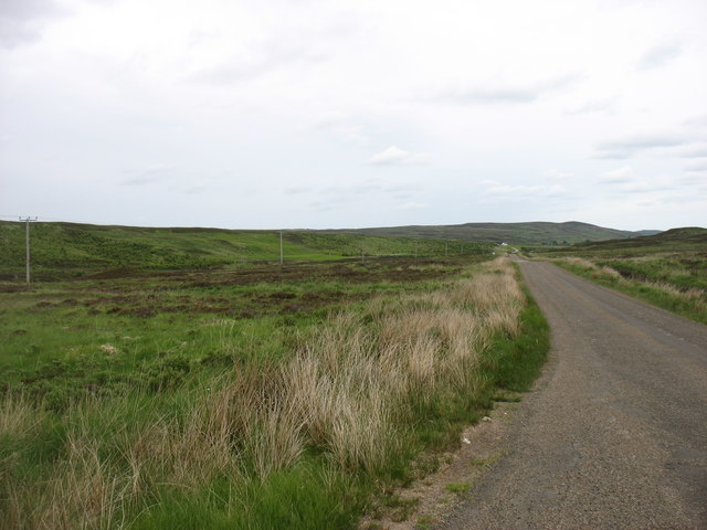 The A897 in Strath Halladale