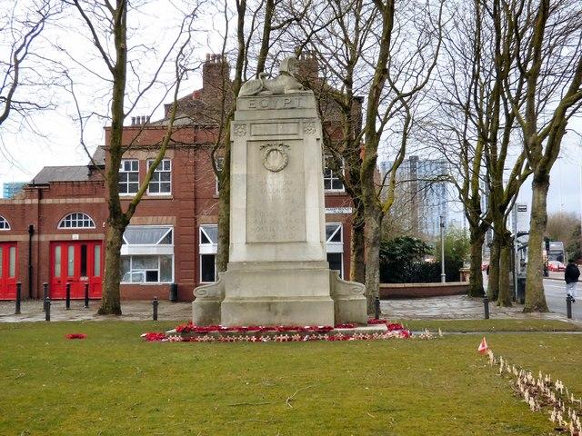 War Memorial in Albert Bentley Place