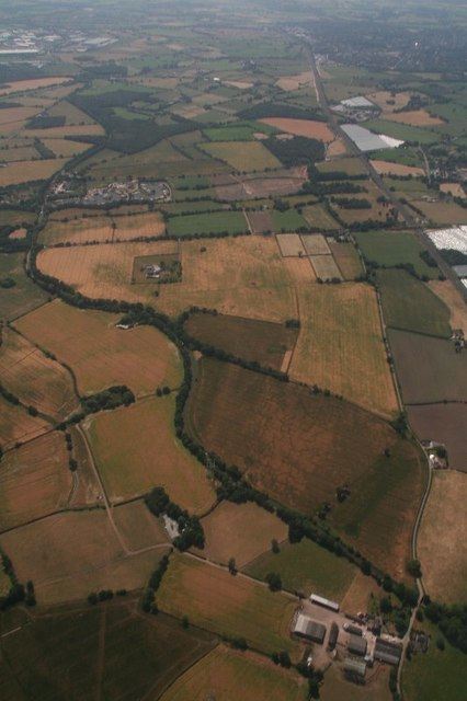 Trent and Mersey Canal SE of Handsacre: aerial 2018