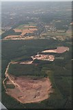 SJ9715 : Quarry on Cannock Chase north of Cannock: aerial 2018 by Chris