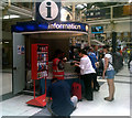 TQ3381 : Information Point in Liverpool Street Railway Station by Adrian Cable