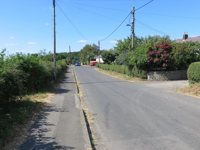 Twizell Lane and the entrance to Eden Hill Farm at West Pelton