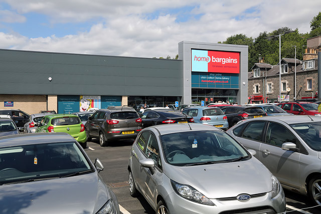 The Home Bargains Store in Galashiels