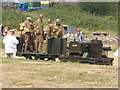 SJ8248 : Tracks to the Trenches - troop transportation by Chris Allen
