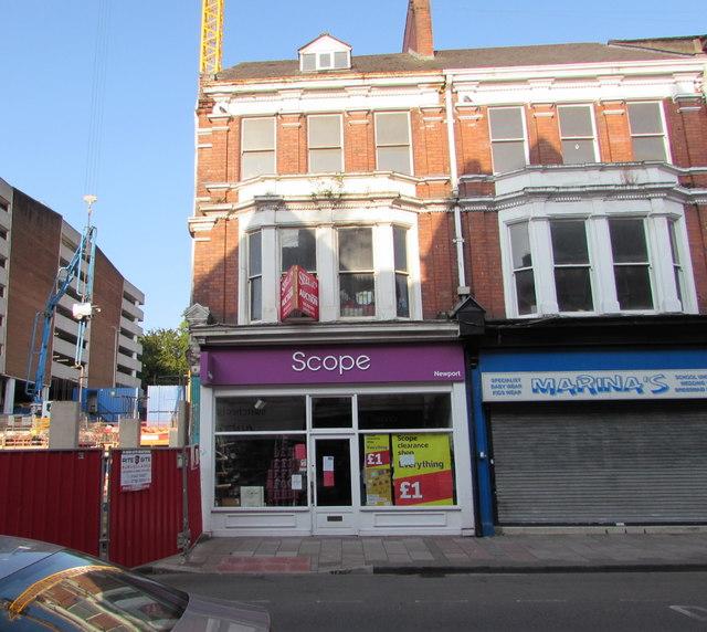 Scope charity shop, 130 Commercial Street, Newport