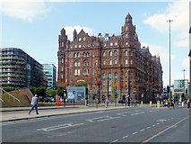 SJ8397 : Lower Mosley Street, Midland Hotel by David Dixon