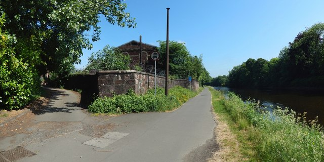 River Leven and former Alexandria Works