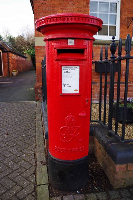 King George VI postbox, High Street, Henley-in-Arden, Warwicks