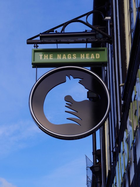 The Nags Head (2) - sign, 161 High Street, Henley-in-Arden, Warwicks