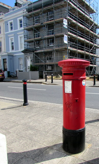 Victorian pillarbox on a Plymouth corner