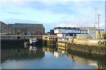 NZ4057 : Entrance to Hudson Dock, Port of Sunderland by Graham Robson