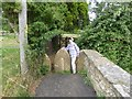 ST4710 : Footpath beside St Michael and All Angels' Church by Oliver Dixon