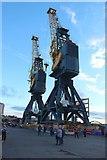 NZ4057 : Cranes, Corporation Quay, Port of Sunderland by Graham Robson