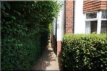 SE2837 : Path off Stonegate Road, Leeds by Ian S