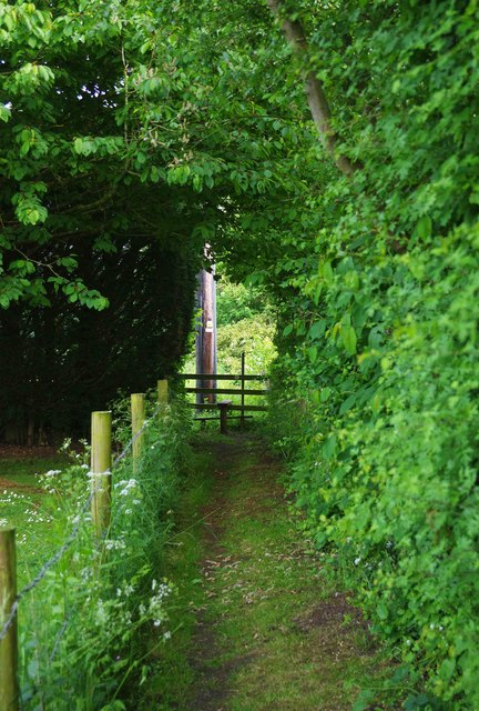 Public footpath near Bampton, Oxon