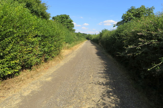 Northamptonshire round footpath leaving Chase Park Farm