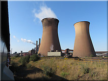 SE9109 : Cooling towers at Scunthorpe Steelworks by Gareth James