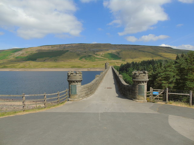 The Dam holding back the Waters of Scar House Reservoir