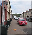 ST3189 : Wheelie bins and cars, Ailesbury Street, Newport by Jaggery