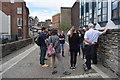 C4316 : Tourists, Derry City Walls by Kenneth  Allen