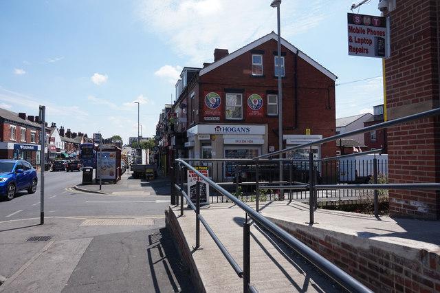 Harehills Lane at Cower Road, Leeds