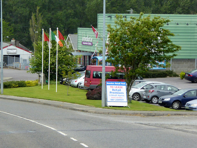 Bandon Relief Road passing the Retail Park