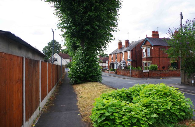 Pavement in Lickhill Road, Stourport-on-Severn