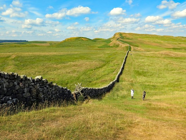 Hadrian's Wall near Busy Gap
