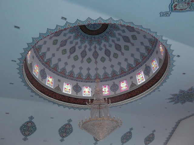 Interior dome detail, Aziziye Mosque