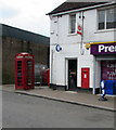 SO2604 : Red phonebox and postbox, Stanley Road, Garndiffaith by Jaggery