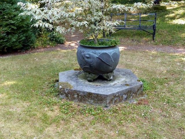 Chinese Garden, Whatton House, fish cauldron